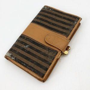 Fendi Vintage Striped Coin Wallet